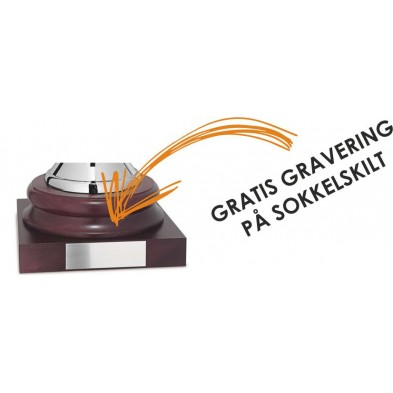 Forsølvet Pokal med Løvkrans i Bladguld # 460 mm