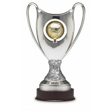 Sølvbelagt Fodbold Pokal # 670 mm