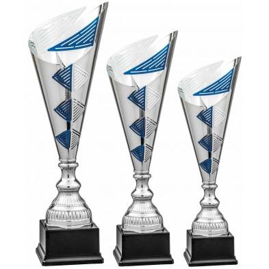 Åben Pokal med Blå Detaljer # 500 - 600 mm