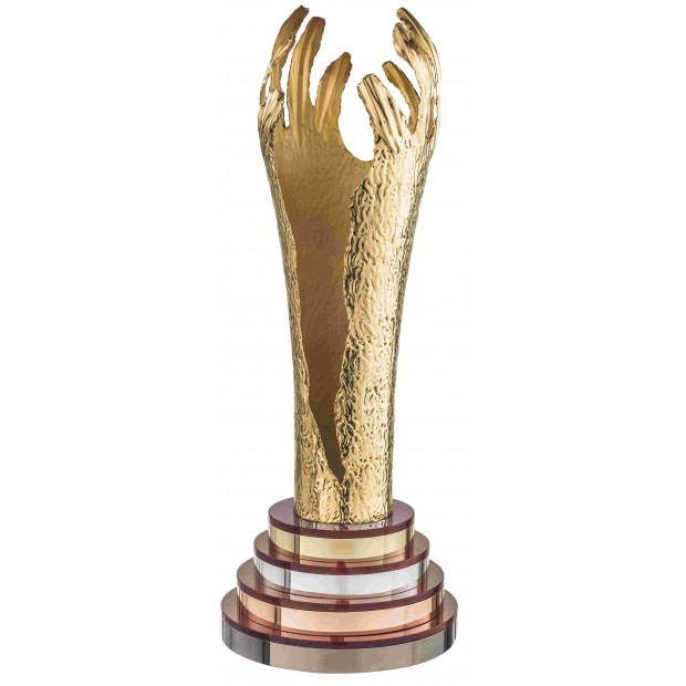 Guldbelagt Pokal # 600 mm