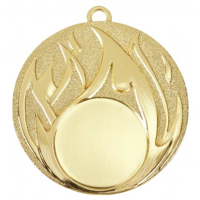 Medalje med flammer # Ø50 mm
