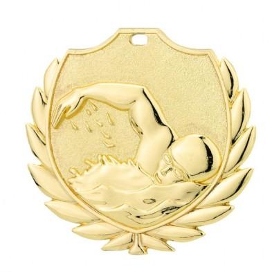 Medalje med svømmemotiv # Ø50 mm # 200 stk.