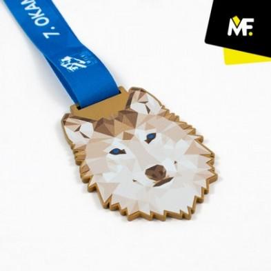 Medalje med 1-siddet print # Ø50 - 80 mm