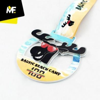 Medalje i 2 niveauer - med print # Ø50 - 80 mm