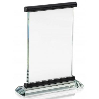 Firkantede Glasstatuetter med Sorte Detaljer # 195 - 235  mm