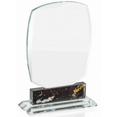 Glasstatuetter med Sorte Detaljer  # 190 - 245 mm