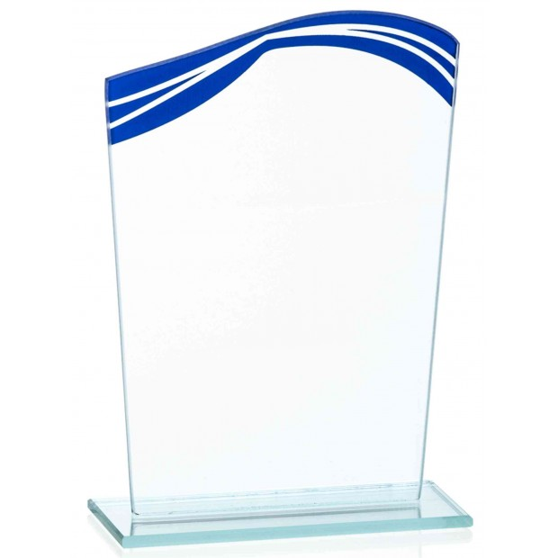 Glasstatuetter med Blå Detaljer # 180 - 220 mm