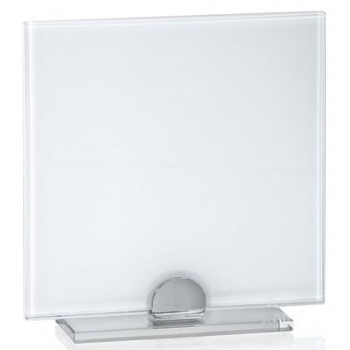 Firkantede Glasstatuetter med Hvidt Glas # 160 - 200 mm