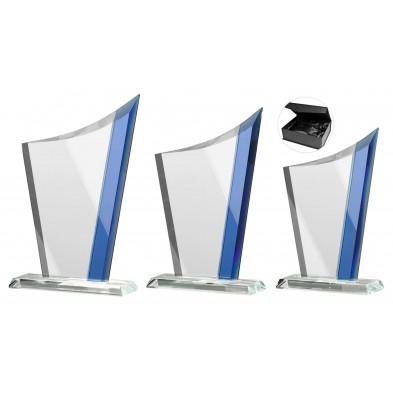 Glasstatuetter med Blå Detaljer # 200 - 240 mm