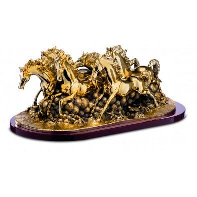 Statuette med Heste  # 600 x 240 mm