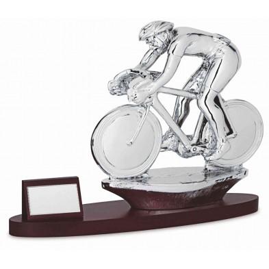 Statuette med Cykelrytter # 380 x 280 mm