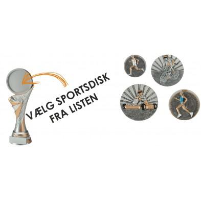Høje statuetter til sportsdisk # 225 - 260 mm