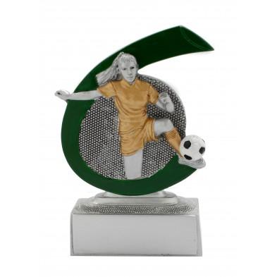 Lille figur # Fodboldspiller Dame # 75x100 mm